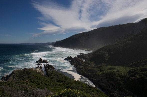 The Otter Trail follows the coast and provides spectacular view.