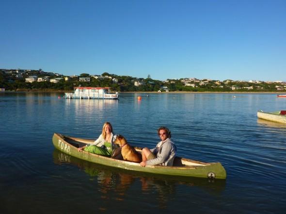 Getting my sea legs on the Bushman's River.