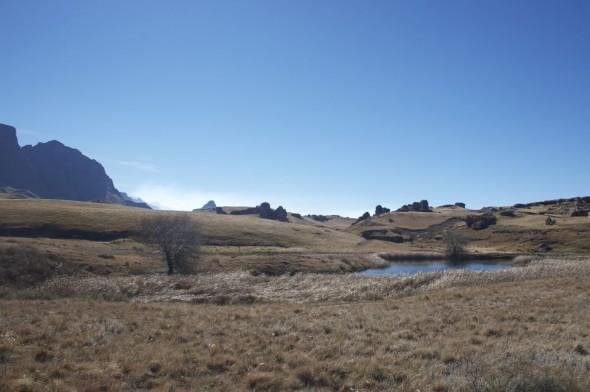 Beautifully bleak landscape, Sehlabathebe National Park, Lesotho.