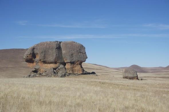 Sphinx like rock formation, Sehlabathebe National Park, Lesotho.