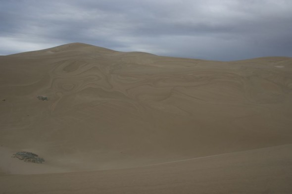 Mottled marble affect on largest dunes in the Southern Hemisphere.