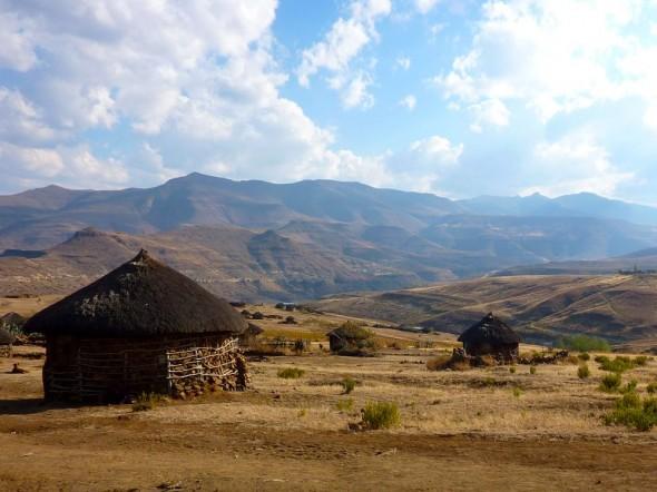 Farm rondavels, Lesotho.