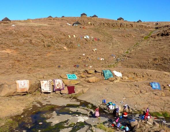Laundry day, Lesotho.