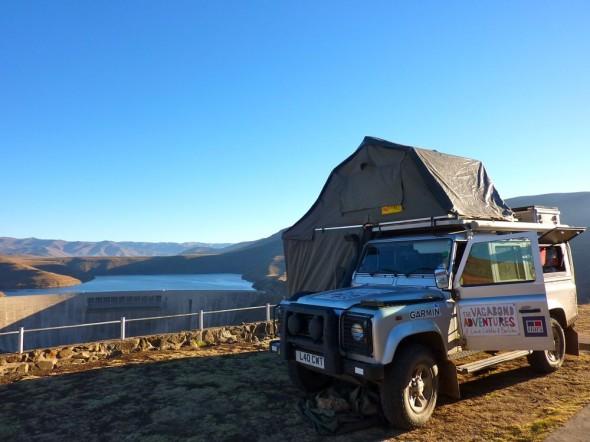 Lula at the Katse Dam, Lesotho.