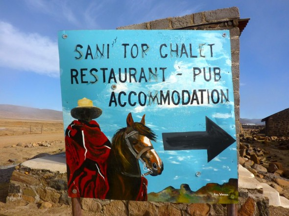 It's not so tough at the top, Sani Top Chalet, Lesotho.