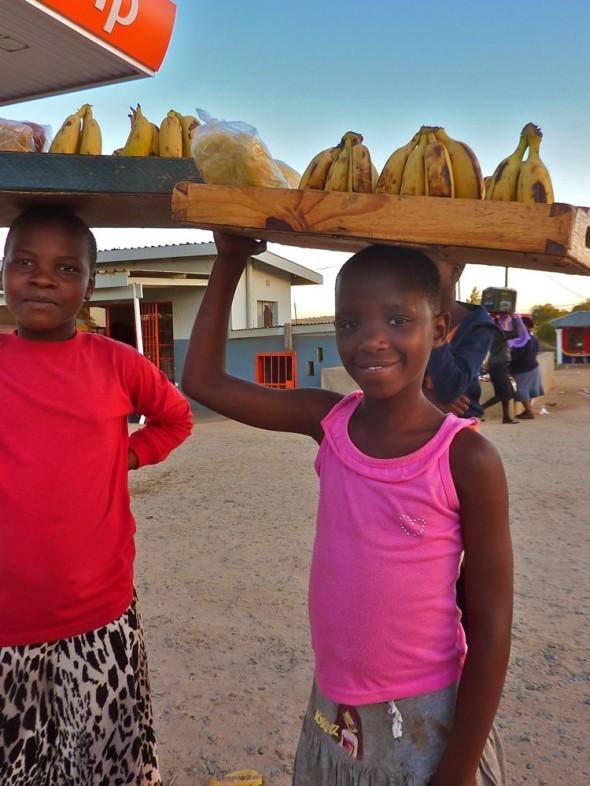 Bafana Banana girls at the Swazi border.