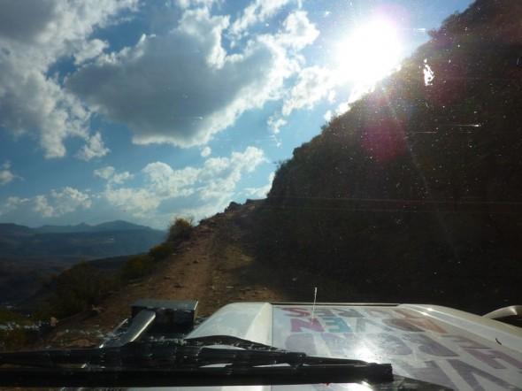 Roller coaster roads, Lesotho.