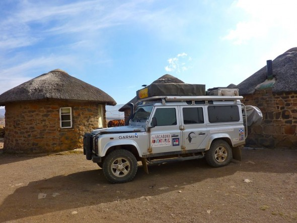 Cosy comfort of our own private rondavel, Sani Top Chalet, Lesotho.