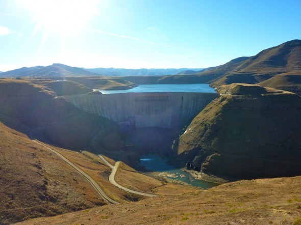 Katse Dam panorama.