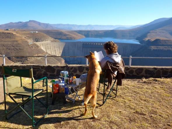 Breakfast at the Katse Dam, Lesotho.