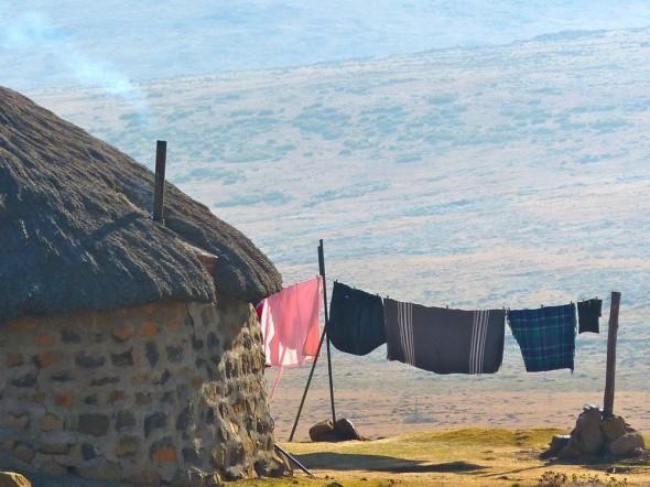 Puffing chimneys at the Sani Top, Lesotho.