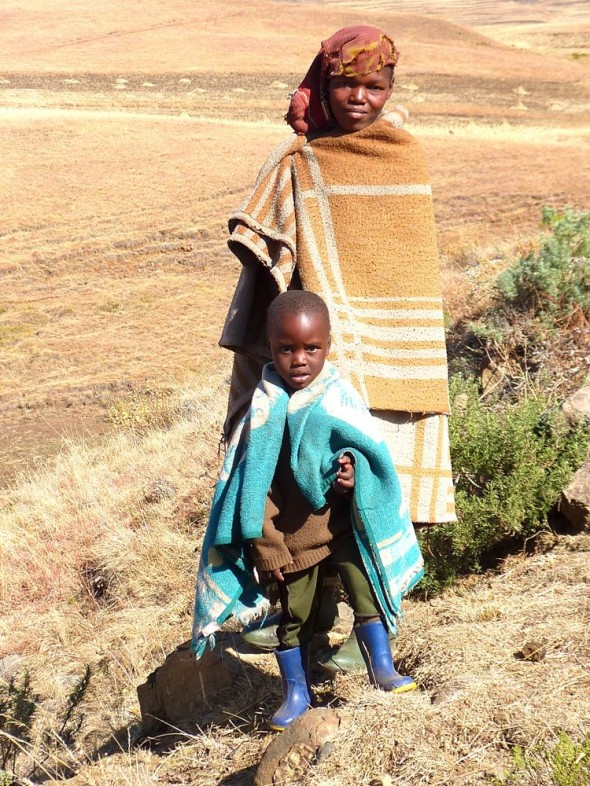 Friendly faces of Lesotho.