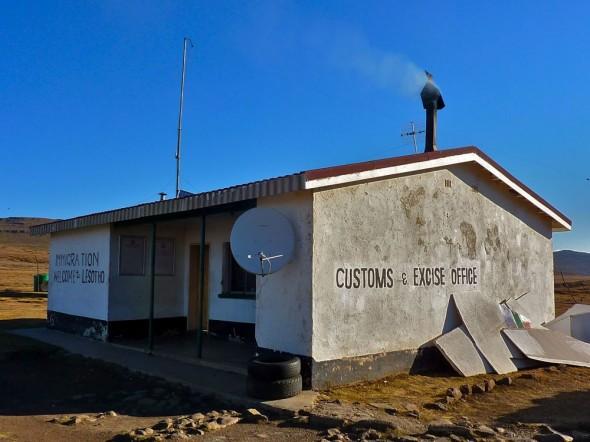 Lesotho border control.