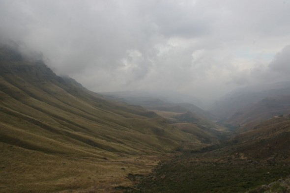 Descending the Sani Pass, Lesotho / South Africa.