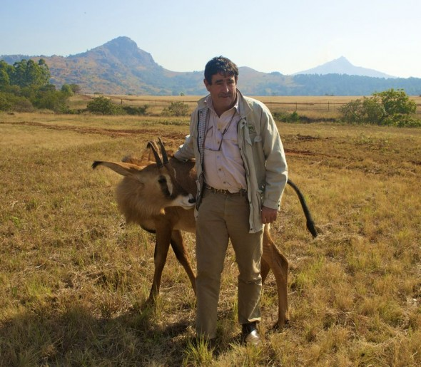 Me and Dr Hamish Currie, the founder of Back to Africa. Mlilwane Wildlife Sanctuary, Swaziland.
