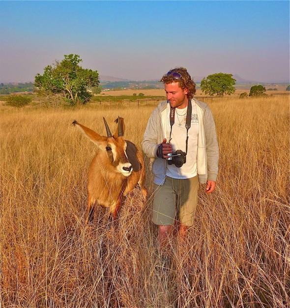 Showing Lachlan around my hood. Mlilwane Wildlife Sanctuary, Swaziland.