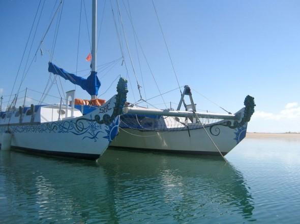 SHE has sea horses for figureheads... Pomene, Mozambique.