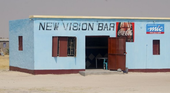 New Vision Bar. Bar / Shebeen on the C46 Highway between Ruacana and Oshakati, Namibia.