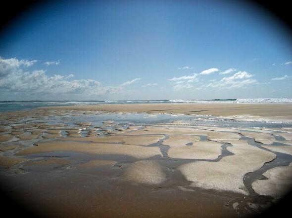 Dare we make footprints. Pomene, Mozambique.