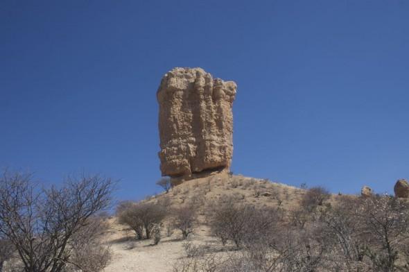 The Vingerklip (Finger Rock), Damaraland, Namibia.