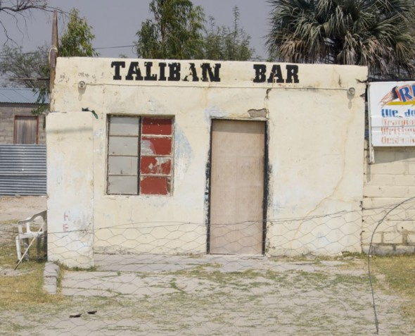 Taliban Bar. Bar / Shebeen on the C46 Highway between Ruacana and Oshakati, Namibia.