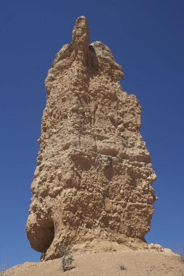 Close-up of the Vingerklip (Finger Rock), Damaraland, Namibia.