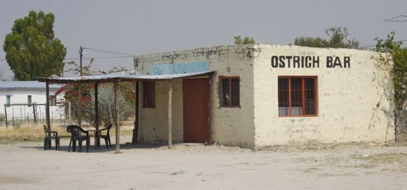 Ostrich Bar. Bar / Shebeen on the C46 Highway between Ruacana and Oshakati, Namibia.