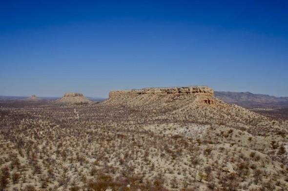 View from the Vingerklip (Finger Rock), Damaraland, Namibia.