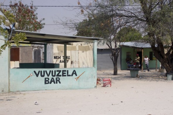 Vuvuzela Bar. Bar / Shebeen on the C46 Highway between Ruacana and Oshakati, Namibia.