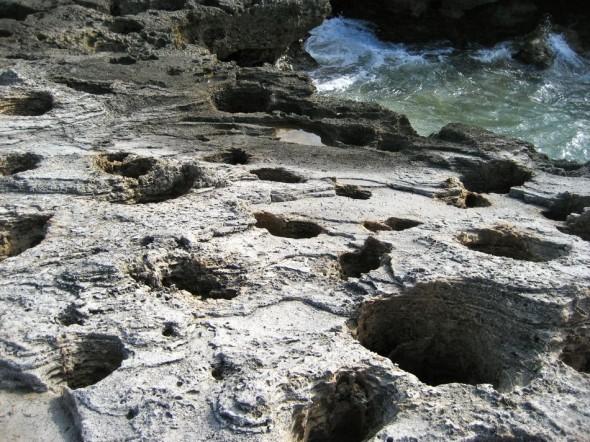 Rock blowholes. Pomene, Mozambique.
