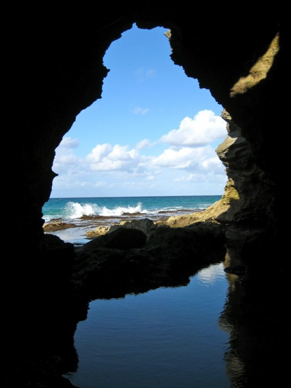 Cave with a view. Pomene, Mozambique.