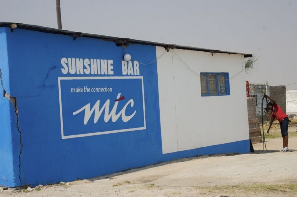 Sunshine Bar. Bar / Shebeen on the C46 Highway between Ruacana and Oshakati, Namibia.