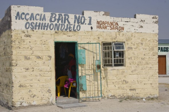 Acacia Bar No. 1. Bar / Shebeen on the C46 Highway between Ruacana and Oshakati, Namibia.