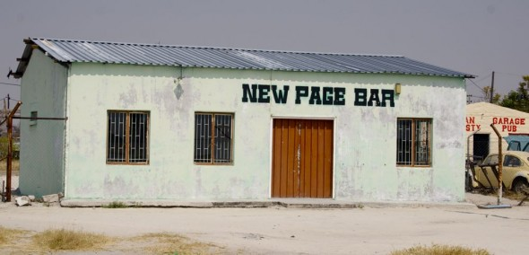 New Page Bar. Bar / Shebeen on the C46 Highway between Ruacana and Oshakati, Namibia.