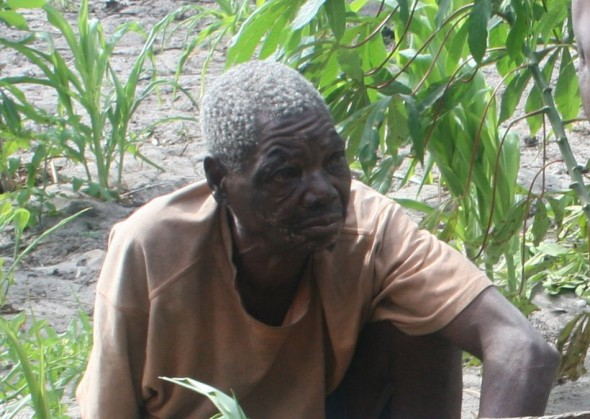This man is almost ninety years old. He approached us on all fours because he is going blind. Pomene, Mozambique.