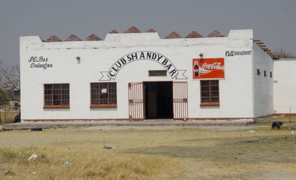 Club Shandy Bar. Bar / Shebeen on the C46 Highway between Ruacana and Oshakati, Namibia.