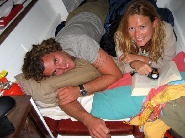 Rocked to sleep by Neptune's hand. (Picture taken by Captain Pat.) Pomene, Mozambique.