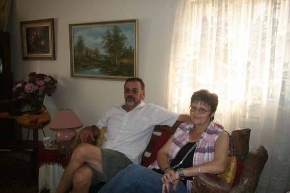Dane and Reane at their home. Grootfontein, Namibia.