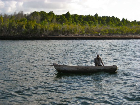 """According to Pat, you should never wish a fisherman luck. Instead you should say """"I hope that you touch the tale of a koggel mannetjie."""" Pomene, Mozambique."""