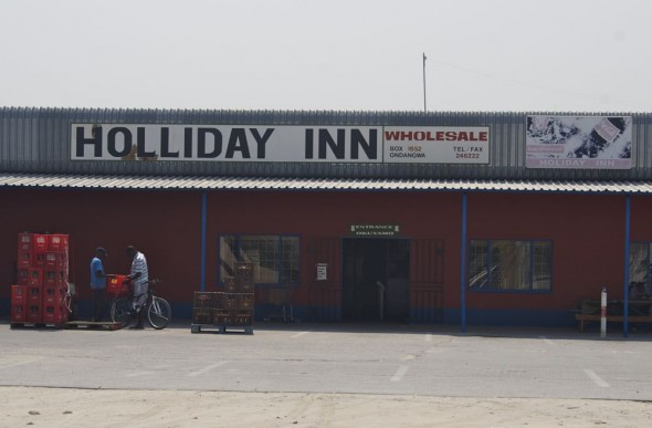 Holliday Inn. Bar / Shebeen on the C46 Highway between Ruacana and Oshakati, Namibia.