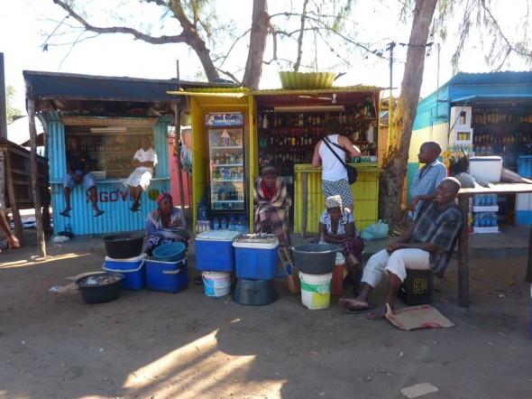 Laid back Tofo life. Praia do Tofo market, Mozambique.