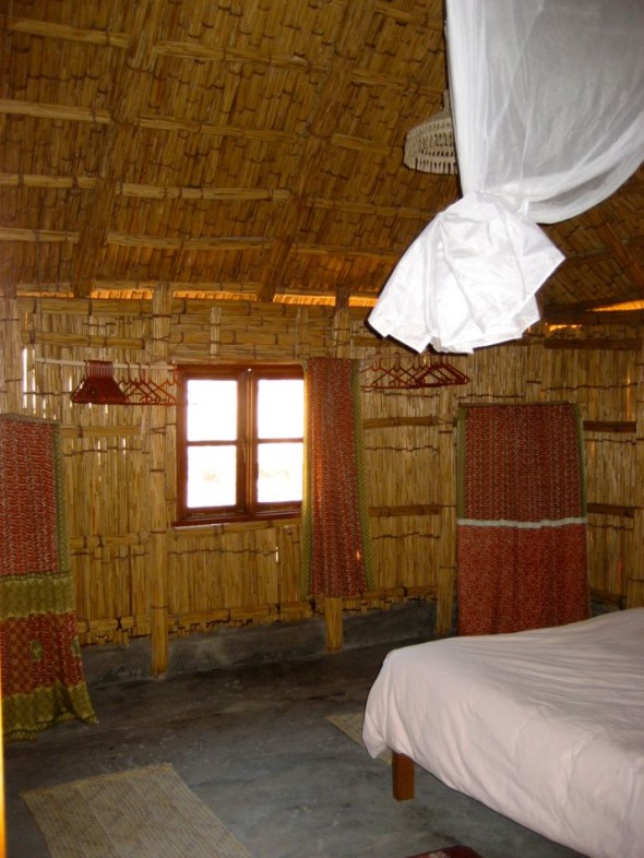 Beach boudoir. Pomene, Mozambique.