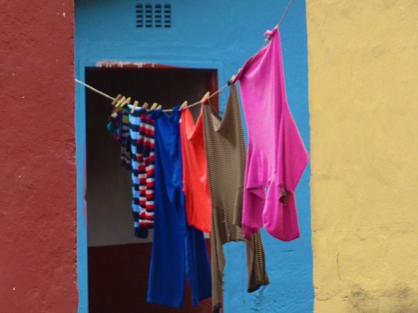 Unexpected and stimulating colour combinations, textures and juxtapositions. Bulembu, Swaziland.
