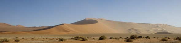The Sossusvlei sand dunes, Namibia.