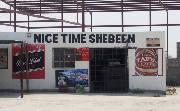 Nice Time Shebeen. Bar / Shebeen on the C46 Highway between Ruacana and Oshakati, Namibia.