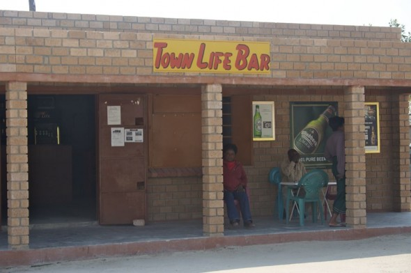 Town Life Bar. Bar / Shebeen on the C46 Highway between Ruacana and Oshakati, Namibia.
