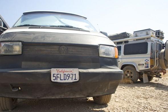 Ognen & Juan's VW Califonian van - Near Twyfelfontein, Damaraland, Namibia.