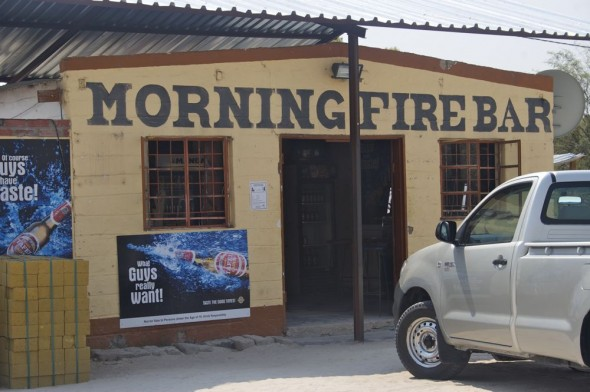 Morning Fire Bar. Bar / Shebeen on the C46 Highway between Ruacana and Oshakati, Namibia.