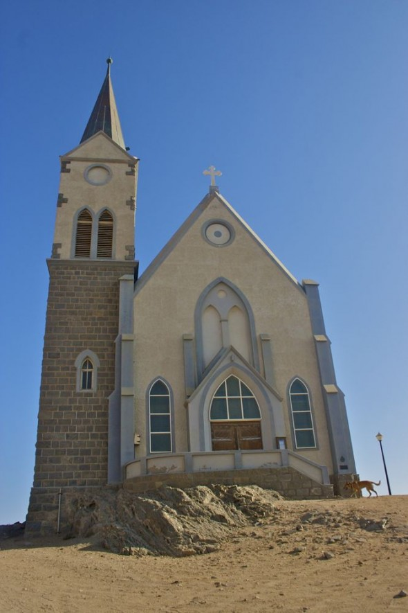 The Lutheran church, Lüderitz, Namibia.