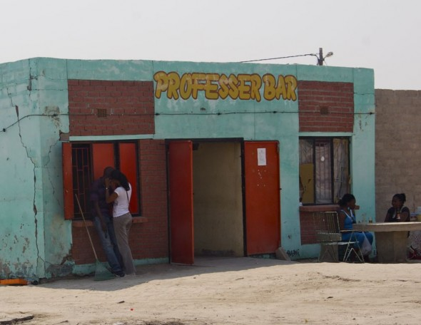 Professer Bar. Bar / Shebeen on the C46 Highway between Ruacana and Oshakati, Namibia.